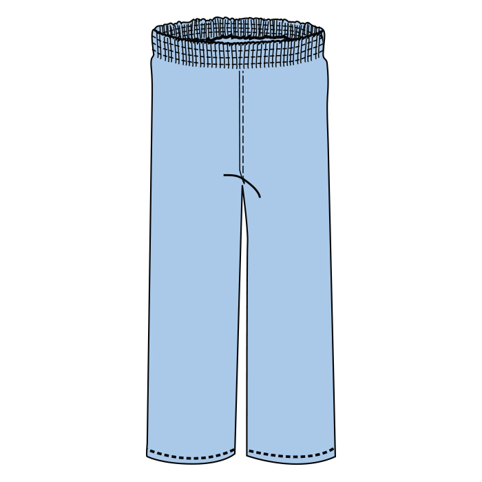 #704-PJ Bottom elastic waist