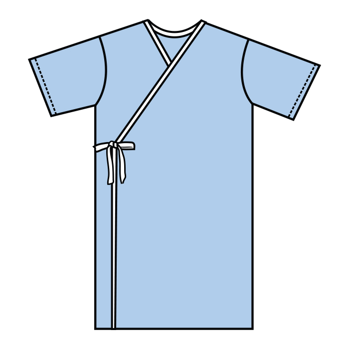 #501-Kimono Style Exam Gown